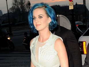 How Katy Perry Rocks Her Blue Hair Hue
