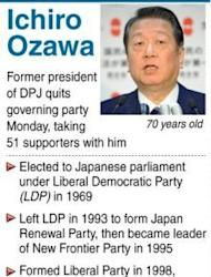 """""""Shadow Shogun"""" Ichiro Ozawa and his supporters have stormed out of Japan's ruling party in protest at a sales tax hike, in a move that reduces, but does not overturn the government's majority"""