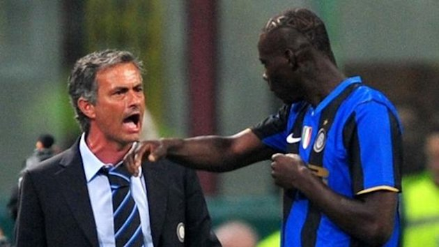 Jose Mourinho and Mario Balotelli (Reuters)