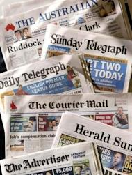 The mastheads of News Ltd's Australian papers. Rupert Murdoch's Australian arm News Limited on Wednesday made an Aus$1.97 billion (US$2.0 billion) takeover bid of James Packer's majority-owned media investment firm Consolidated Media Holdings