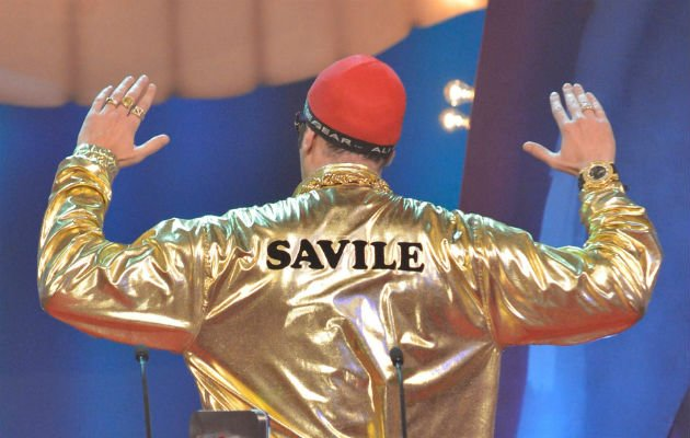 Ali G... cracks risky Savile joke (Copyright: Rex)
