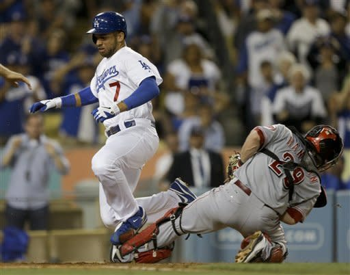 Cruz and Dodgers beat Cueto, Reds 3-1