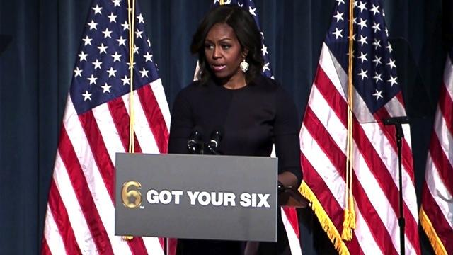 First lady defends 'American Sniper' at veterans event