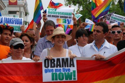 Mariela Castro (C) has been a staunch advocate for gay and transgender Cubans