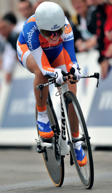 French Cyclist Pauline Ferrand Prevot Smiles AFP/Getty Images
