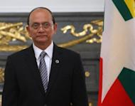Myanmar President Thein Sein attends a regional summit in Tokyo on April 21. Several hardliners will leave Myanmar's top leadership in an imminent reshuffle, as the reformist regime welcomed the parliamentary debut of Aung San Suu Kyi's opposition