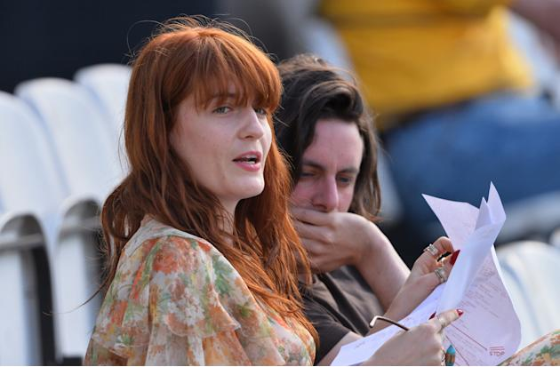 Florence Welch Watches Surrey v Sussex LV County Championship Match