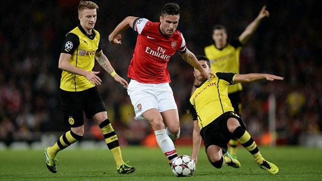 Football - Dortmund edge out Gunners
