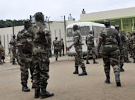 Soldiers in Abidjan in 2011. A raid on an army base in Abidjan left at least six dead Monday, in the latest of a string of attacks targeting the military in the Ivory Coast economic capital