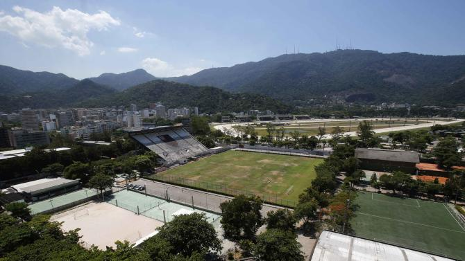 A view of the Flamengo soccer club, where the Netherlands soccer squad is training for the FIFA 2014 World Cup, in Rio de Janeiro