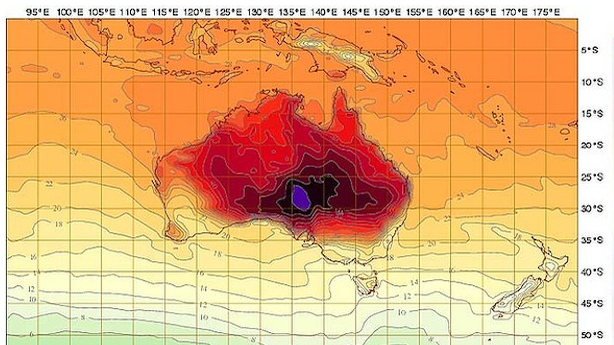 It's So Hot in Australia That They Added New Colors to the Weather Map