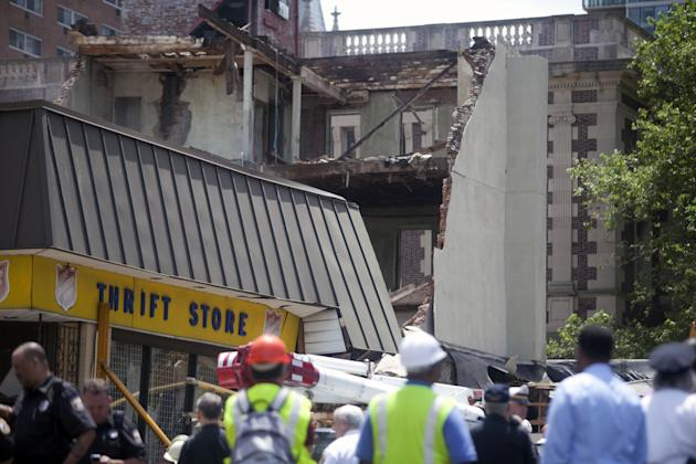 People Trapped And Injured In Building Collapse In Philadelphia