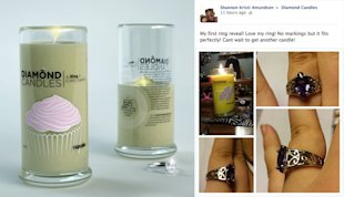 Three Examples of Unconventional Viral Marketing image diamond candles