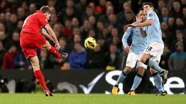 Premier League - Gerrard strike wins Goal of the Week