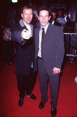 Premiere: Donnie Wahlberg and Mark Wahlberg at the Hollywood premiere of New Line's Boogie Nights - 10/15/1997