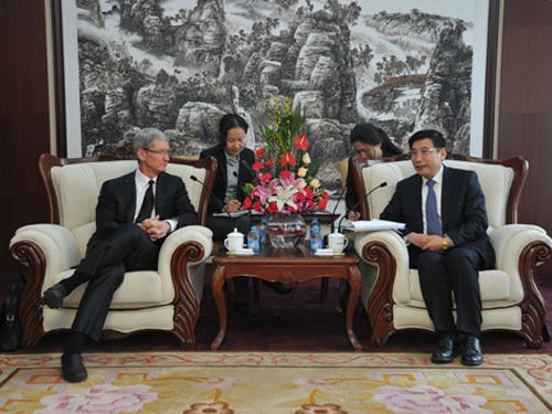 Tim Cook in China, meets MIIT's Miao Wei