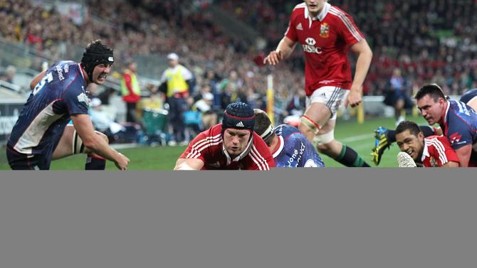 Rugby Union - 2013 British and Irish Lions Tour - Melbourne Rebels v British & Irish Lions - AAMI Park