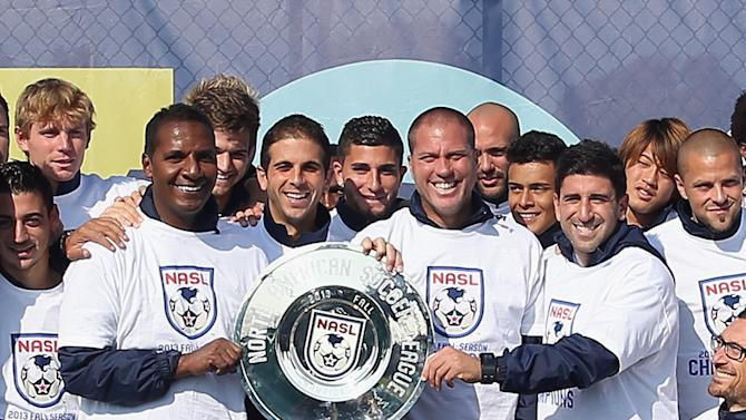 New York Cosmos NASL Fall Championship Trophy Presentation