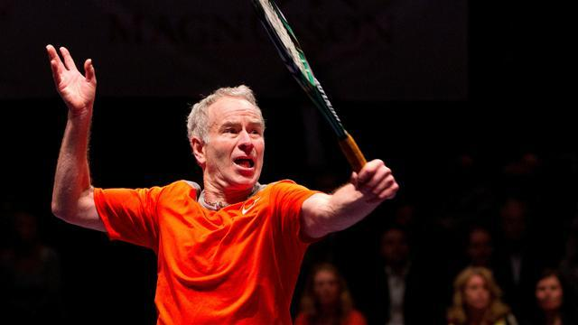 Tennis - McEnroe begins Legends defence with victory