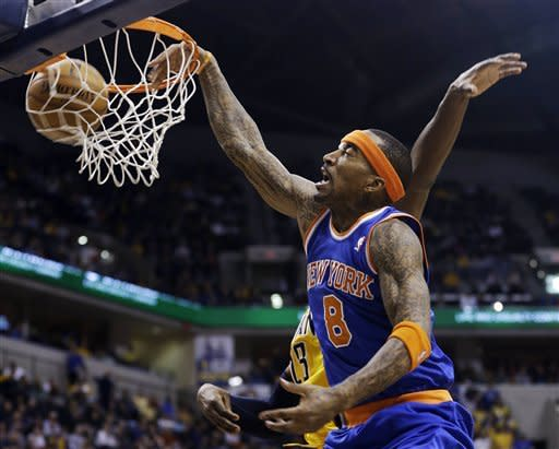 George leads Pacers past short-handed Knicks 81-76