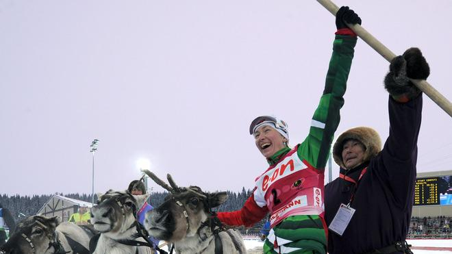 Belarus's Darya Domracheva (2R) Reacts AFP/Getty Images