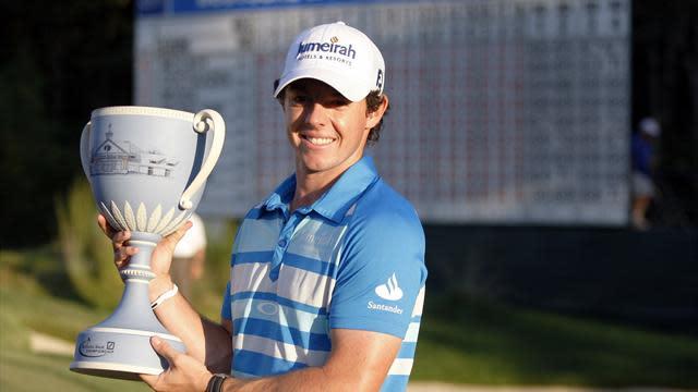 McIlroy wins Deutsche Bank title by one shot