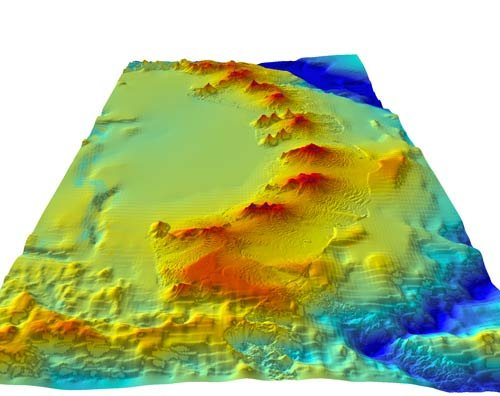Underwater volcanoes of the South Sandwich Islands arc. Photo: British Antarctic Survey