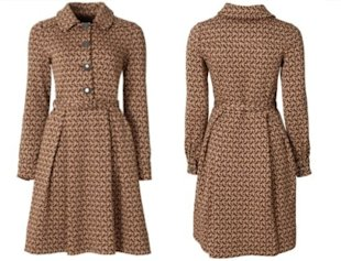 Kate Middleton Wearing an Orla Kiely Coat & Aquatalia Boots in Oxford Today