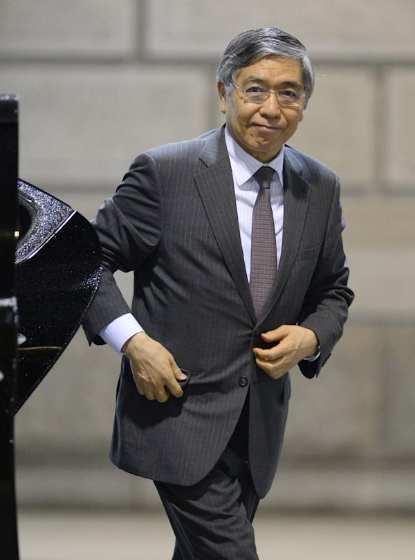 of Bank of Japan in Tokyo, Wednesday, April 30, 2014. Japan's