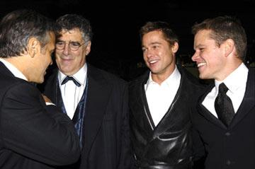 Premiere: George Clooney, Elliott Gould, Brad Pitt and Matt Damon at the Hollywood premiere of Warner Bros. Ocean's Twelve - 12/8/2004