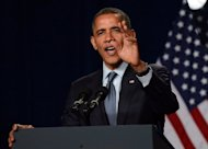 "US President Barack Obama speaks during a campaign event in California on May 23. Fidel Castro's niece on Wednesday hailed Barack Obama's support for gay marriage and the loosening of US-Cuba travel restrictions, saying: ""I would vote for President Obama."""