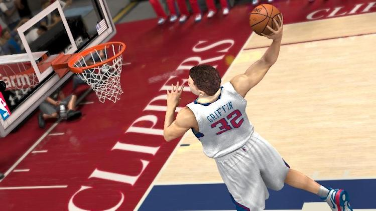 "This video game image released by 2K Sports shows an animated image portraying Los Angeles Clippers' Blake Griffin in a scene from ""NBA 2K13."" (AP Photo/2K Sports)"