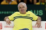 Tennis - Great Britain v Australia - Davis Cup Semi Final - Emirates Arena, Glasgow, Scotland - 19/9/15 Men's Doubles - Australia captain Wally Masur during their match Action Images via Reuters / Jason Cairnduff/ Livepic/ Files