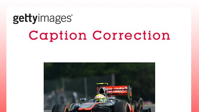 CAPTION CORRECTION: F1 Grand Prix of Great Britain - Qualifying