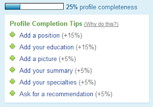 The Risky Business of Linking Up image online profile completion percentage
