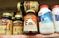 Bottles of vitamin E are seen at a pharmacy in New York City. Japanese scientists say they have found a link between consumption of vitamin E and the degenerative bone condition osteoporosis, in a study likely to shed new light on the use of supplements