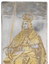 Among a set of playing cards from 400 years ago was this king of swords, with the ruler dressed as a Holy Roman Emperor. [See more photos of the cards]