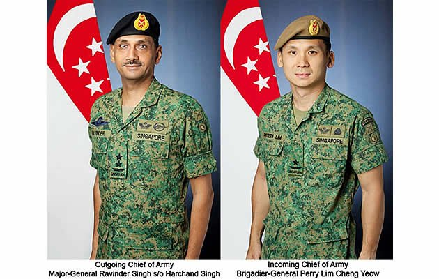 "Singapore will have a new army chief starting 21 March of this year as part of the Singapore Army's ""continuing process of leadership renewal"". (Singapore Army Facebook Photo)"