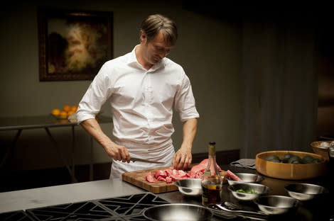 Hannibal: Mads Mikkelson's Hannibal preparing one of his 'dishes'