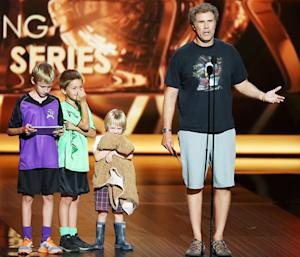 """Will Ferrell Brings His Three Sons Onstage at the Emmys: """"I Couldn't Find Child Care"""""""