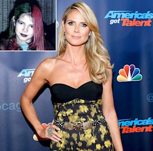 Heidi Klum Shares Throwback Picture: Supermodel Had Goth, Multicolored Hair