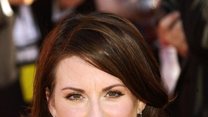 Megan Mullally at The 54th Annual Primetime Emmy Awards.
