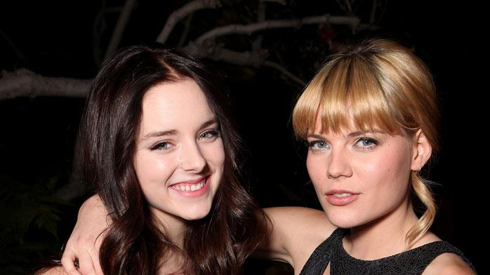 "Madison Davenport and Emma Greenwell attend the ""Shameless"" Season 2 Reception at Haus Los Angeles on January 5, 2012 in Los Angeles, California."