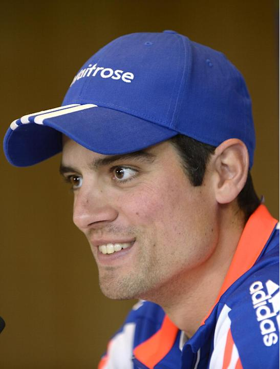 Cricket: England's Alastair Cook during a press conference