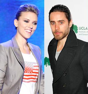Scarlett Johansson, Jared Leto Hold Hands at Democratic National Convention