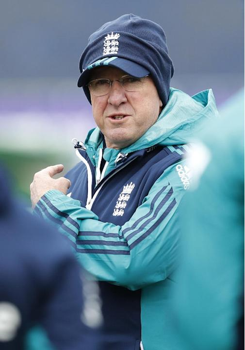 England Coach Trevor Bayliss during nets