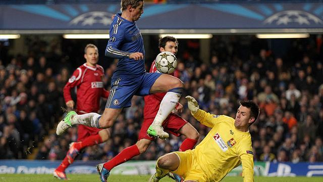 Football - Torres double in vain as Blues crash out