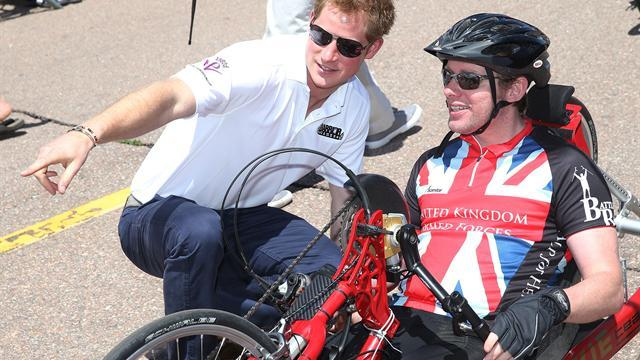 Prince Harry trains with Wounded Warriors