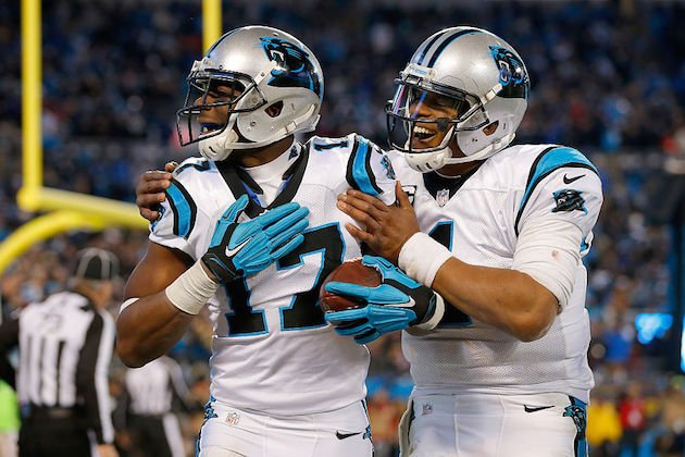 Funchess over Benjamin is a hot take that may actually have some merit. (Getty)