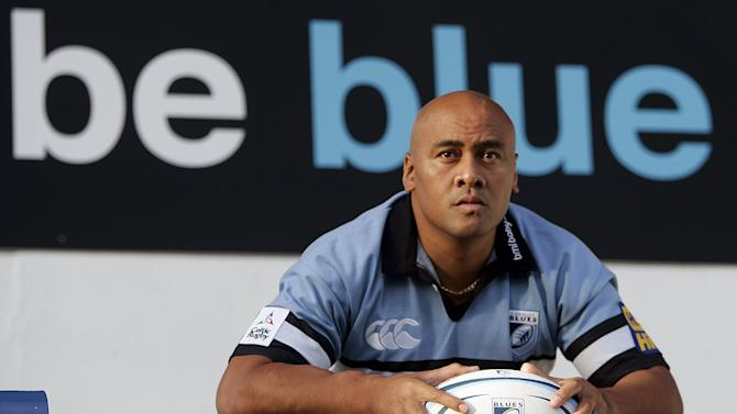File photo of Cardiff Blues' new signing Lomu posing for photographers during a news conference in Cardiff